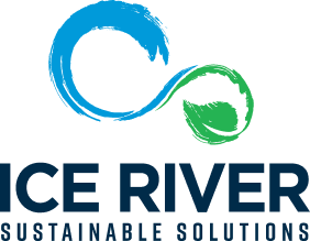 Ice River Green Bottle Co Logo